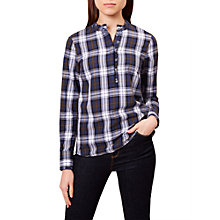 Buy Hobbs Kristen Check Shirt, Multi Online at johnlewis.com