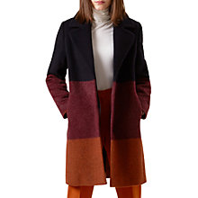Buy Hobbs Florence Wool Blend Coat, Multi Online at johnlewis.com