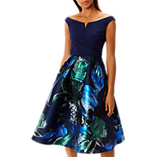 Buy Coast Hamal Petite Jacquard Full Hem Midi Dress, Multi Online at johnlewis.com