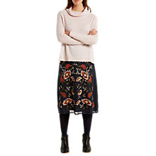 Buy White Stuff Neve Embroidered Skirt, Navy Online at johnlewis.com