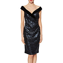 Buy Gina Bacconi Clarissa Velvet Sequin Dress, Night Online at johnlewis.com