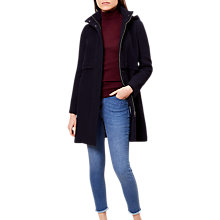 Buy Hobbs Kelsey Coat, Navy Online at johnlewis.com