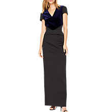 Buy Damsel in a dress Vita Velvet Mix Maxi Dress, Navy/Black Online at johnlewis.com