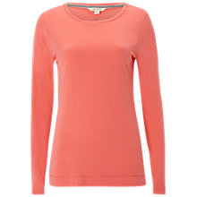 Buy White Stuff Long Sleeve Layering Jersey T-Shirt, Coral Online at johnlewis.com