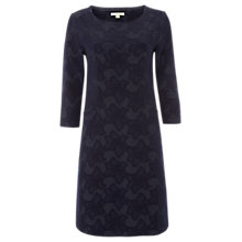 Buy White Stuff Faye Floral Textured Dress, Navy Online at johnlewis.com