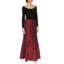 Buy Gina Bacconi Octavia Jacquard Maxi Dress, Red/Black Online at johnlewis.com