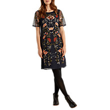 Buy White Stuff Neve Embroidered Dress, Navy Online at johnlewis.com