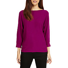Buy Phase Eight Becca Smart Batwing Knitted Jumper, Boysenberry Online at johnlewis.com