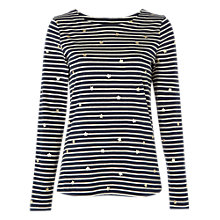Buy White Stuff Stars In The Stripe Jersey T-Shirt, Navy Stripe Online at johnlewis.com