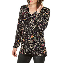 Buy Fat Face Rayleigh Wildflower Longline Top, True Black Online at johnlewis.com