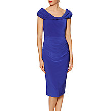 Buy Gina Bacconi Courtney Twist Dress, Sapphire Online at johnlewis.com