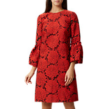 Buy Hobbs Lola Dress, Red/Black Online at johnlewis.com