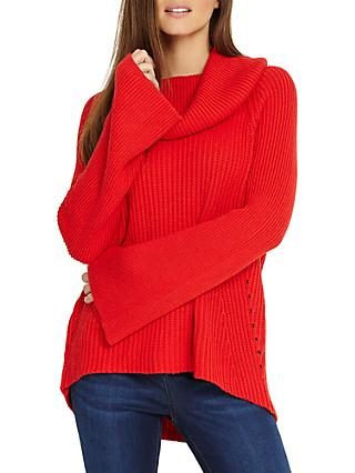 Phase Eight Cateline Cowl Swing Knit Jumper