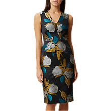 Buy Hobbs Leah Dress, Teal/Multi Online at johnlewis.com