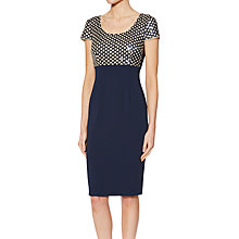 Buy Gina Bacconi Marianne Sequin Bodice Dress, Spring Navy Online at johnlewis.com