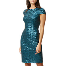 Buy Hobbs Portia Dress, Teal Online at johnlewis.com