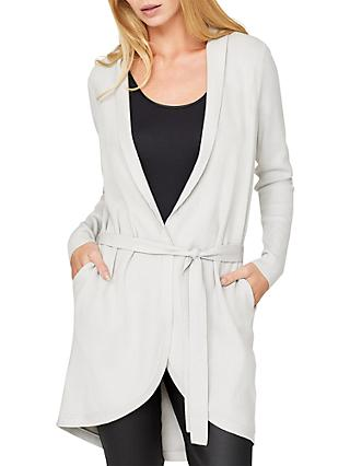 Damsel in a Dress Detachable Faux Fur Collar Cardigan, Winter White