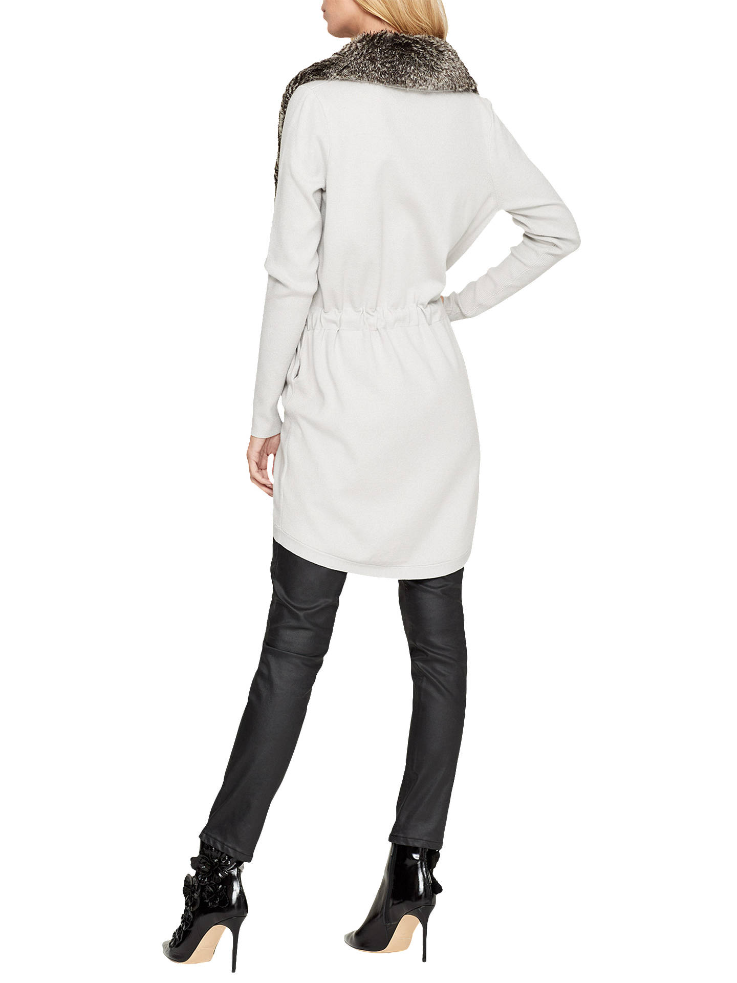 BuyDamsel in a Dress Detachable Faux Fur Collar Cardigan, Winter White, 8 Online at johnlewis.com