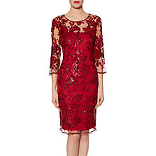 Buy Gina Bacconi Christina Sequin Dress, Wine Online at johnlewis.com