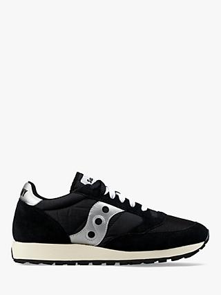 Saucony Jazz Original Vintage Women's Trainers, Black/White