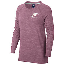 Buy Nike Gym Vintage Crew Neck T-Shirt, Pink Online at johnlewis.com