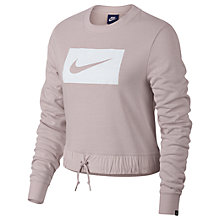 Buy Nike Sportswear Crew, Barely Rose/White Online at johnlewis.com