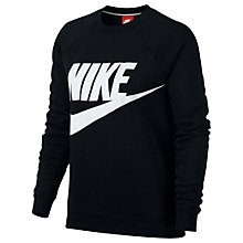 Buy Nike Sportswear Crew Sweatshirt, Black Online at johnlewis.com