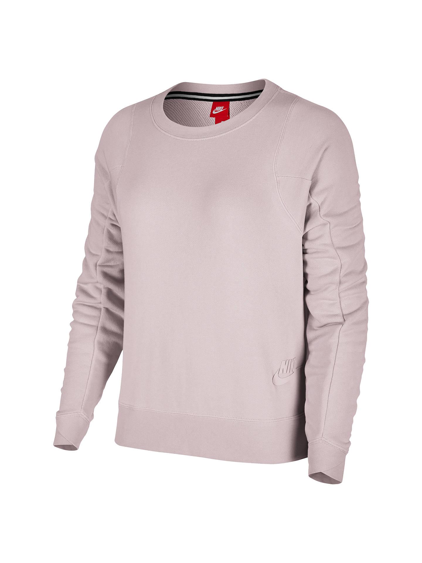 18664adf9bcc0 BuyNike Sportswear Modern Crew Sweatshirt, Rose, XS Online at johnlewis.com  ...