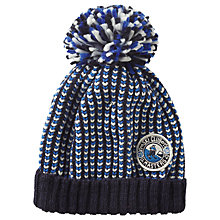Buy Fat Face Children's Durham Beanie Hat, Cobalt Blue Online at johnlewis.com