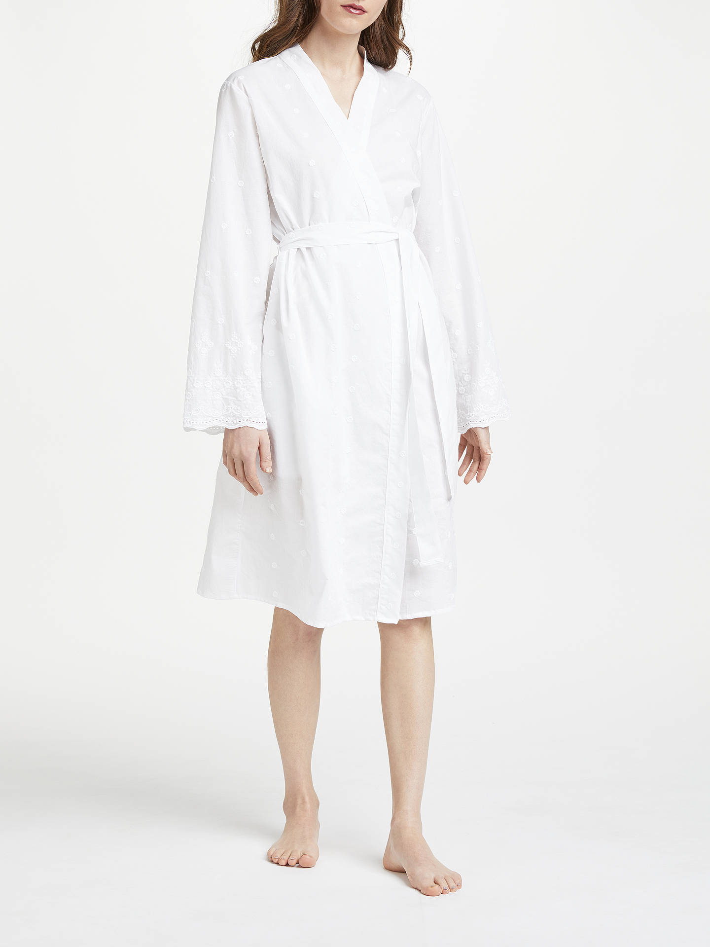 4f9376d953e BuyJohn Lewis   Partners Broderie Anglaise Cotton Dressing Gown