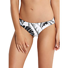 Buy Seafolly Palm Beach Hipster Bikini Bottoms, Black/White Online at johnlewis.com
