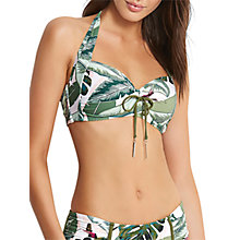Buy Seafolly Palm Beach Soft Cup Halter Bikini Top, Moss/Multi Online at johnlewis.com