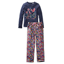 Buy Fat Face Children's Bedtime Is A Hoot Jersey Pyjamas, Navy Online at johnlewis.com