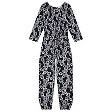 Buy Jigsaw Girls' Mini Floral Jumpsuit, Navy Online at johnlewis.com