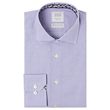 Buy Smyth & Gibson Dash Check 100s Cotton Contemporary Fit Shirt, Blue Online at johnlewis.com