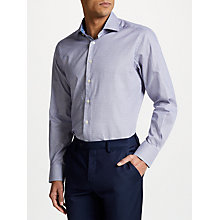 Buy Smyth & Gibson Non Iron Twill Textured Check Contemporary Fit Shirt, White/Blue Online at johnlewis.com