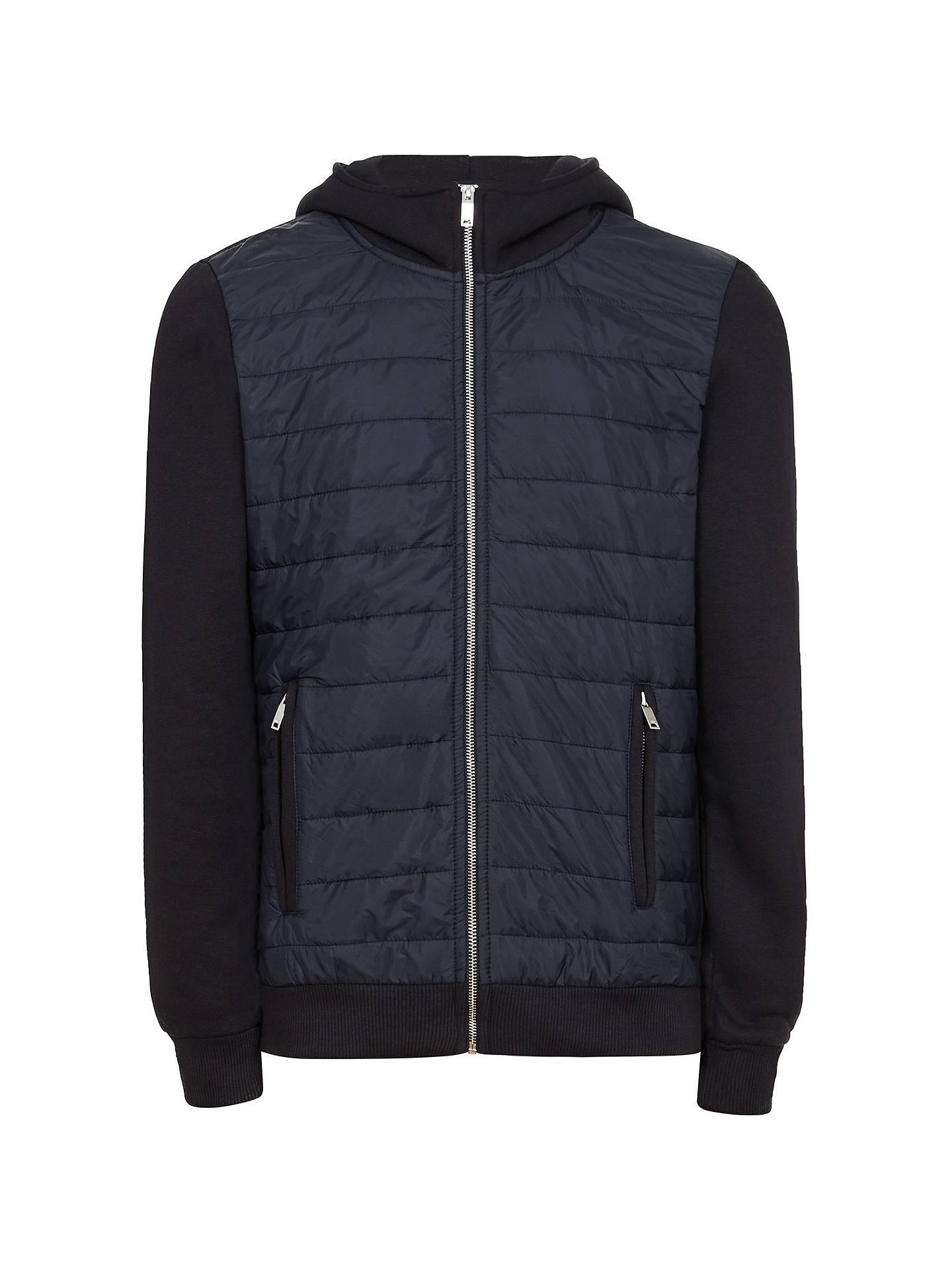 Buy Reiss Hamish Quilted Jacket, Navy, S Online at johnlewis.com