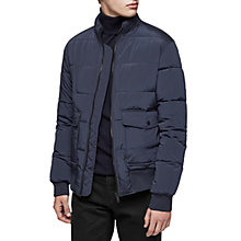 Buy Reiss Rider Quilted Jacket, Navy Online at johnlewis.com