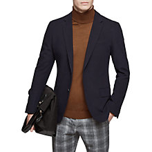 Buy Reiss Christian Textured Blazer, Navy Online at johnlewis.com