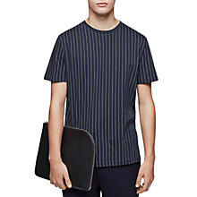 Buy Reiss Kurt Cotton Stripe T-Shirt, Navy Online at johnlewis.com