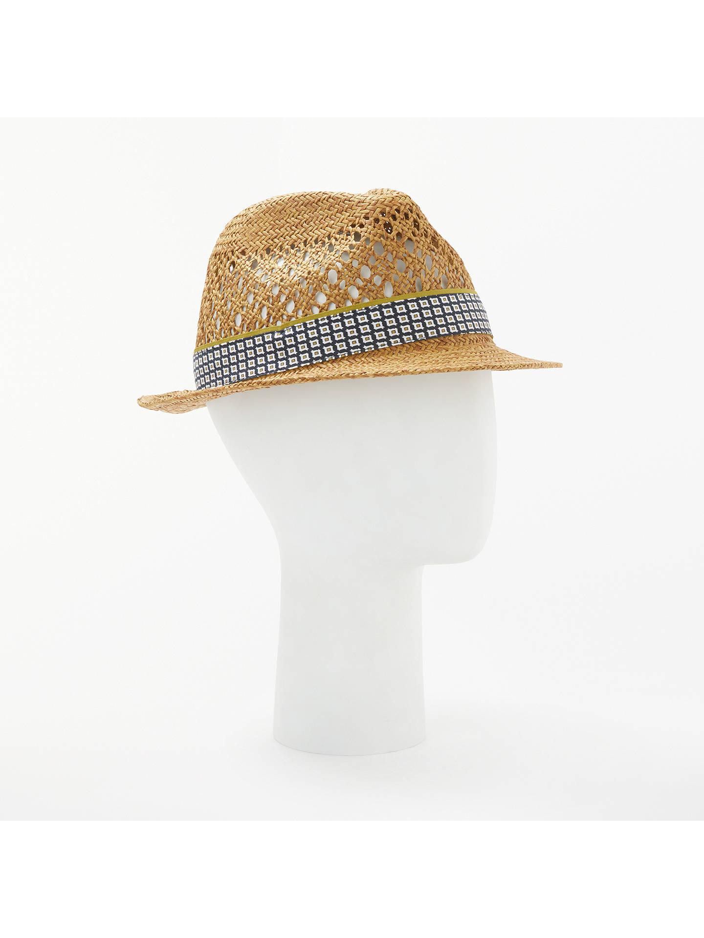 5e7bd3ba75f6d9 Buy Ted Baker Harlow Straw Hat, Natural, S/M Online at johnlewis.