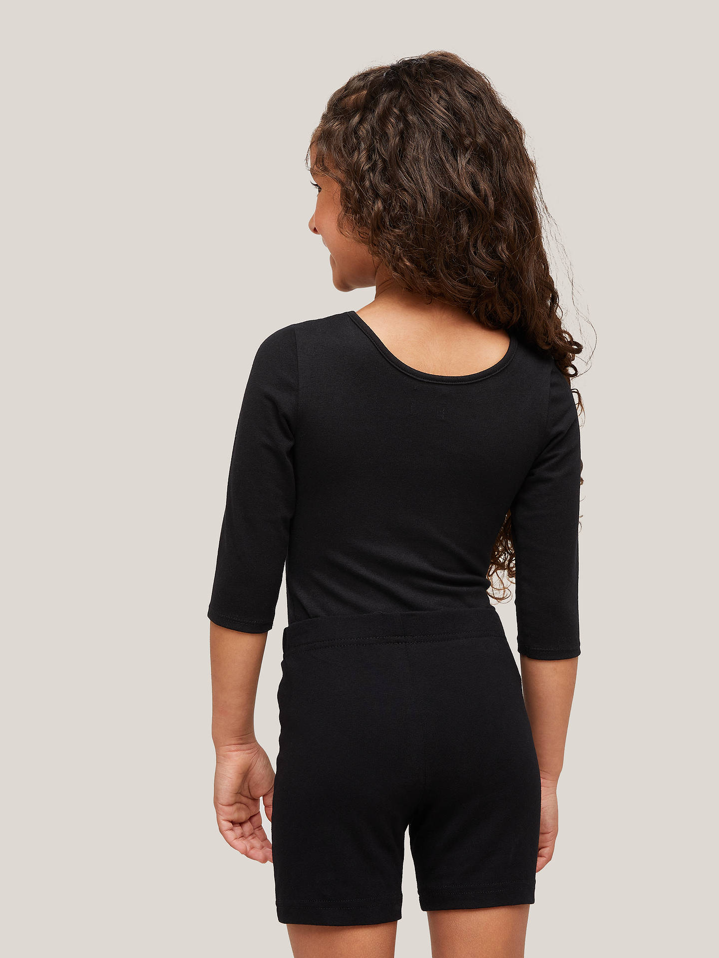 c7e4258e23d1 Buy John Lewis & Partners School Leotard, Black, 5-6 years Online at ...