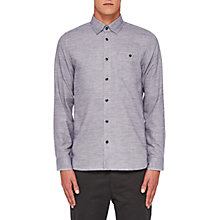 Buy Ted Baker Arc Long Sleeve Shirt, Grey Online at johnlewis.com