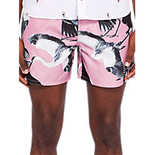 Buy Ted Baker Tudor Print Swim Shorts, Pink Online at johnlewis.com