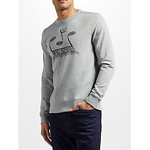Buy Pretty Green Drop Out Long Sleeve Sweatshirt, Grey Online at johnlewis.com