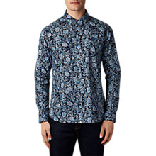 Buy Pretty Green Offshore Paisley Shirt, Navy Online at johnlewis.com