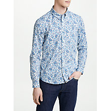 Buy Pretty Green Offshore Slim Fit Paisley Shirt, Stone Online at johnlewis.com