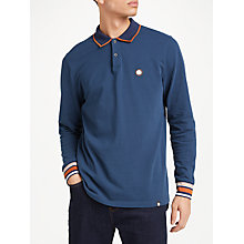 Buy Pretty Green Nomad Long Sleeve Polo Shirt, Navy Online at johnlewis.com