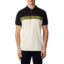 Buy Pretty Green Frequency Short Sleeve Polo Shirt, Grey Online at johnlewis.com