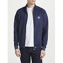 Buy Pretty Green Milner Jersey Track Top, Navy Online at johnlewis.com